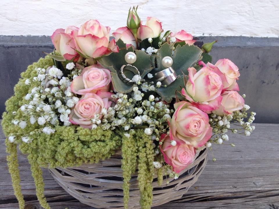 Hochzeit Sommer Rosen Ringe