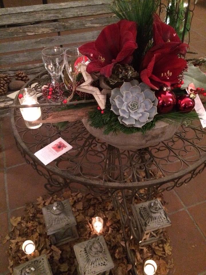 Weihnachten Blumengesteck