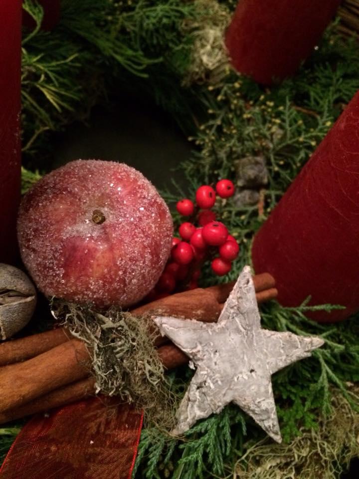 Frohe Weihnachten Sternen Blumendekoration