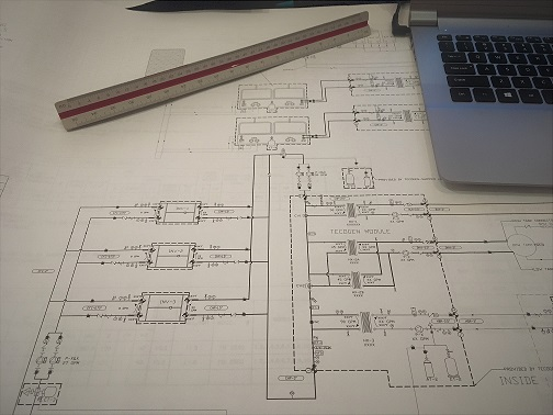 Schematic Drawing developed by mechanical engineers
