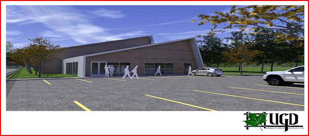 3D rendering of the first LEED certified cannabis cultivation facility