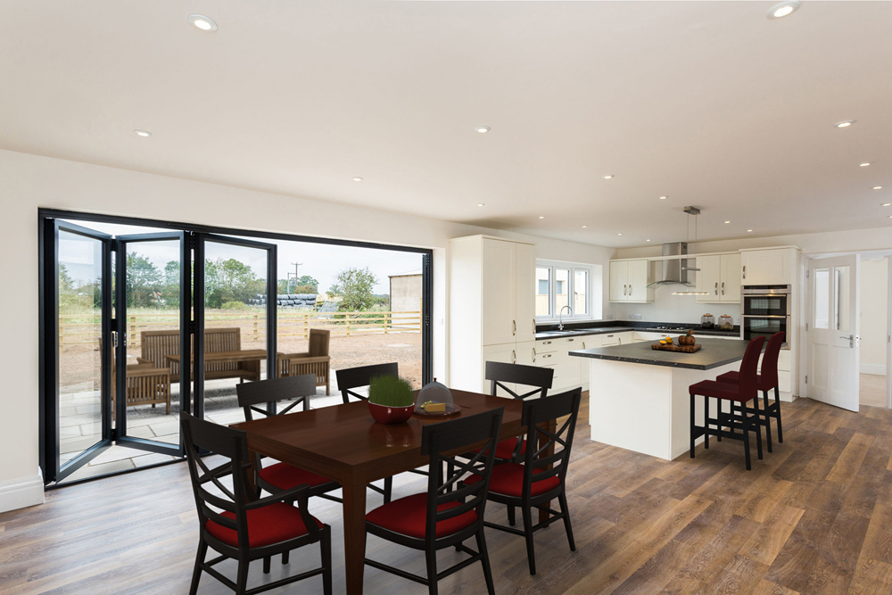 virtually staged kitchen dining room photograph york