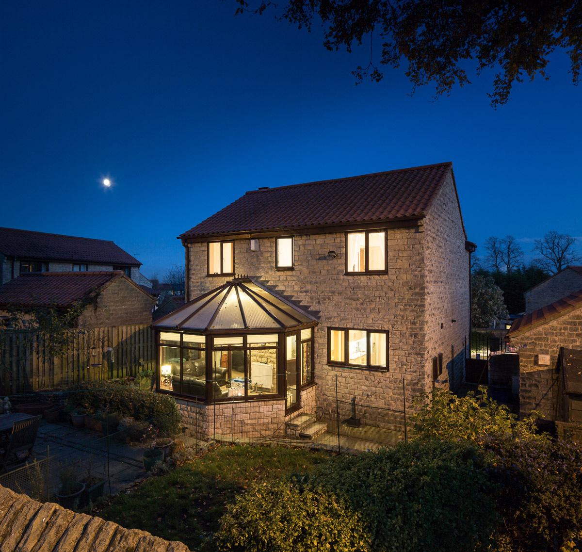 Property photography at night