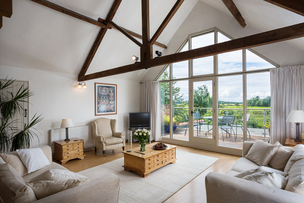 Spectacular living room with countryside views