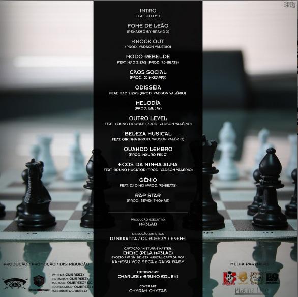 Olibreezy - Peças de Xadrez (EP) Contra Capa