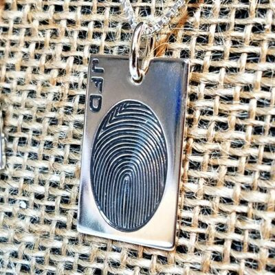 Fingerprint Necklace Dog Tag