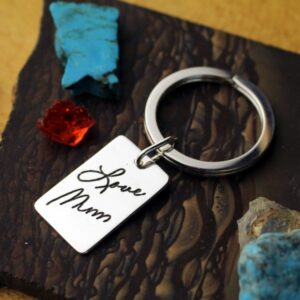 Handwriting Dog Tag Keychain / Necklace