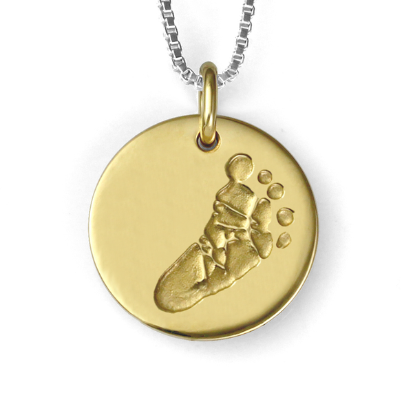 Gold Foot print Necklace