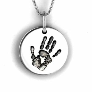 Silver Handprint Necklace