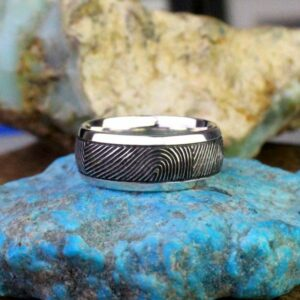 Finge rprint Wedding Band