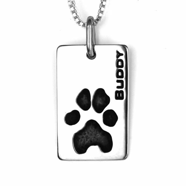 Pawprint Necklace Dog Tag