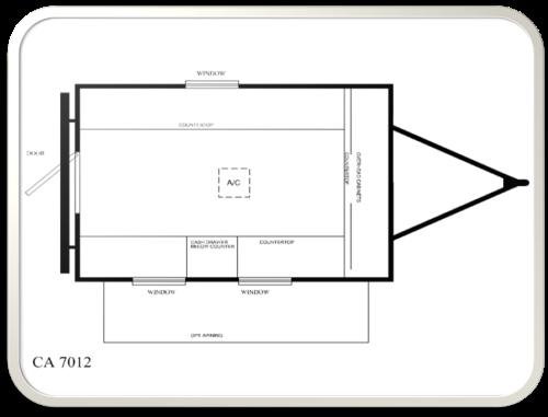 12 auction trailer floor plan model