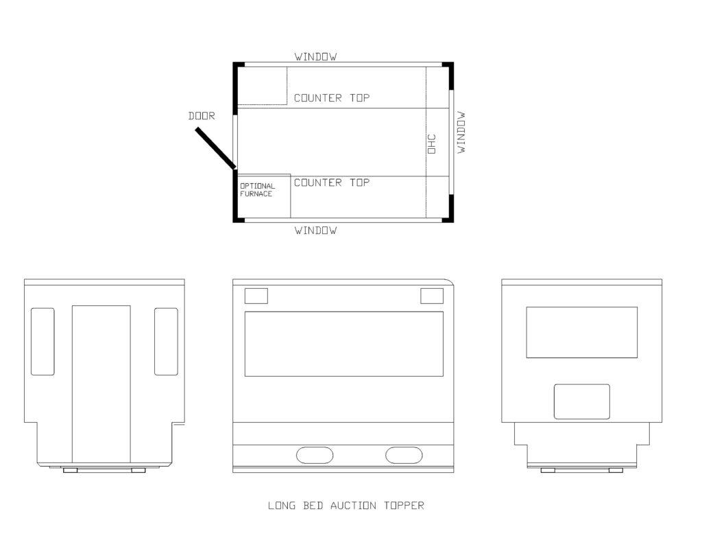 TRUCK TOPPER FLOOR PLANS SHORT BED