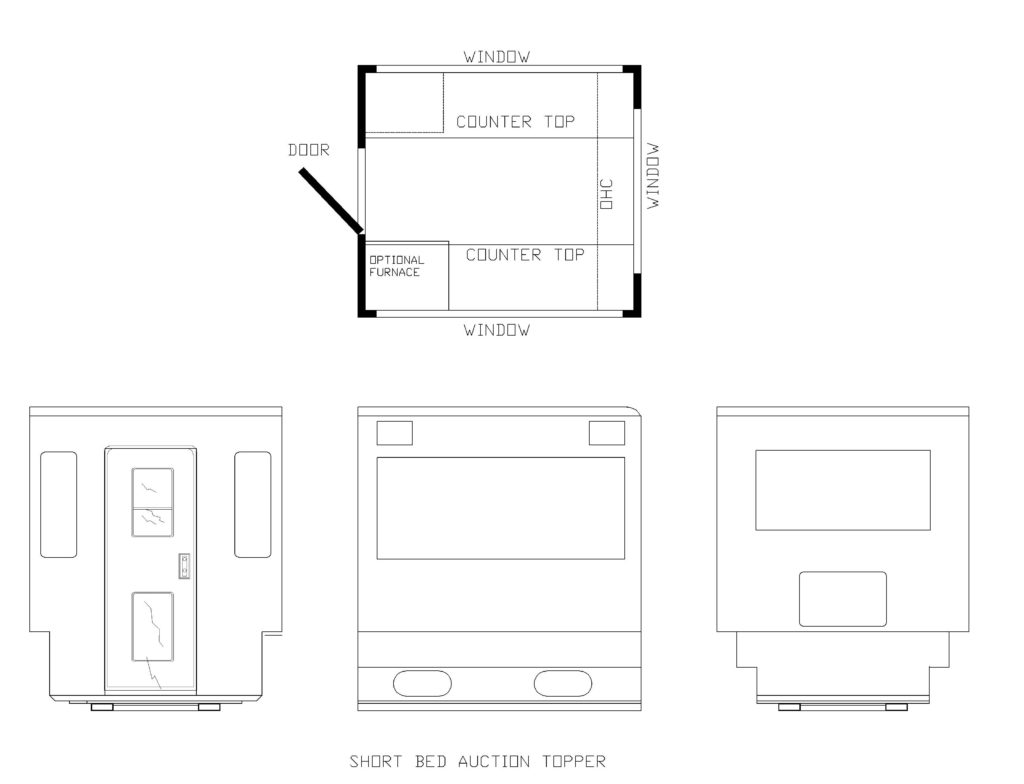 TRUCK TOPPER FLOORPLANS SHORT BED