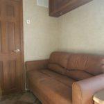 trailer ticket office sofa