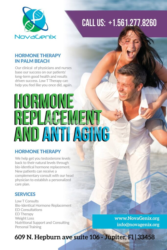 TRT helps men and women at NovaGenix HRT clinic in Jupiter, Florida
