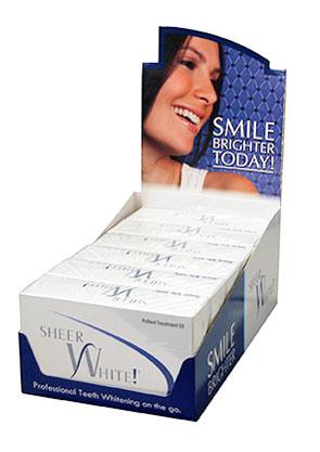 cao group sheer white professional teeth whitening strips intro kit