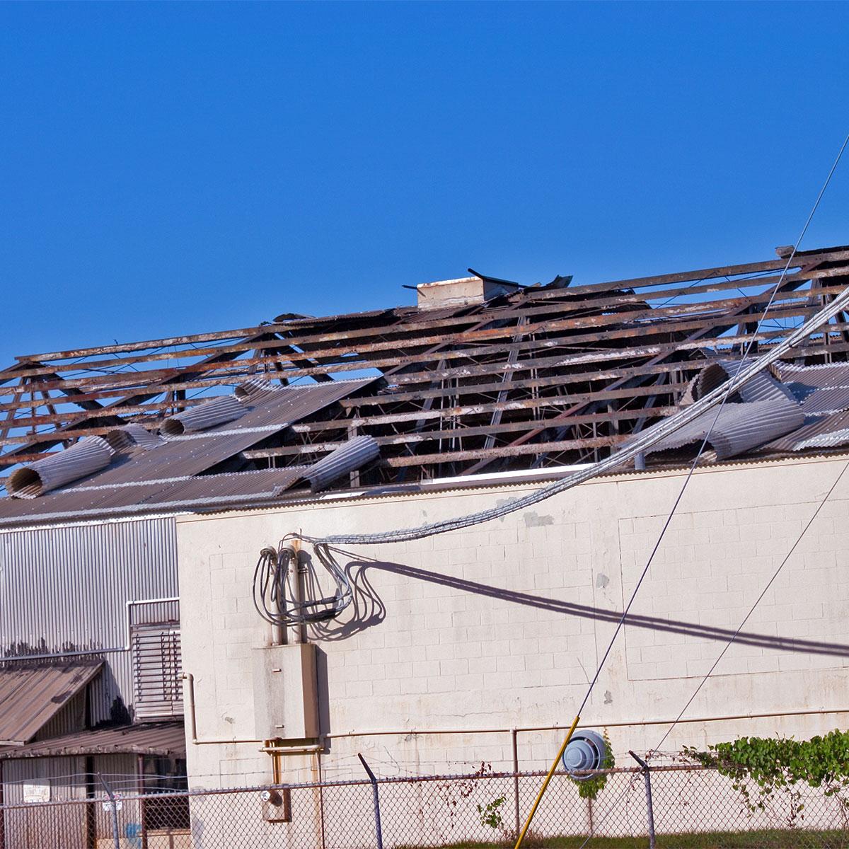 roof damage in southeastern Michigan
