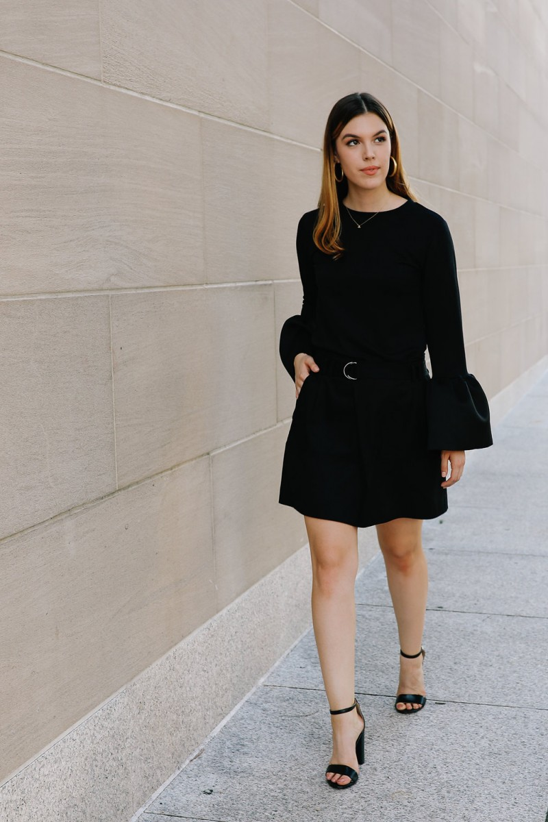 Style blogger Ashley Deatherage of Never Without Lipstick shares tips and tricks for how to incorporate a monochromatic outfit into your workwear wardrobe