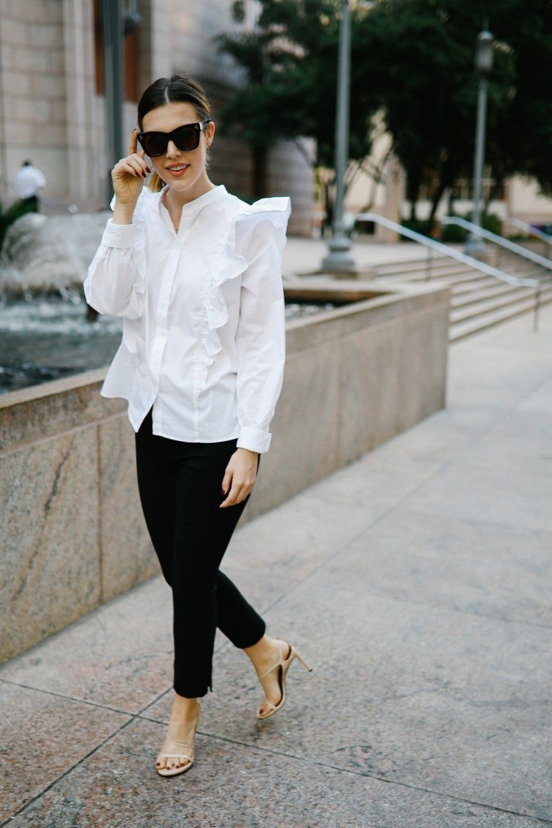 Style blogger Ashley Deatherage shares her first outfit in a series of fall workwear outfits | Never Without Lipstick | office workwear, corporate workwear, casual workwear, desk to drinks outfit, desk to dinner outfit, fall outfit idea, fall workwear outfit, fall workwear, work wardrobe