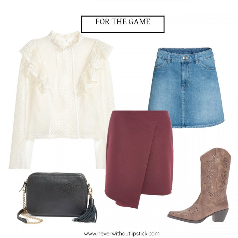 Style blogger Ashley Deatherage shares 4 Texas/OU outfits for the football game weekend | Never Without Lipstick | football game outfit, college football game outfit, fall football game outfit, texas ou weekend, texas ou outfits  | Football Game Outfits: Texas VS OU featured by top US fashion blog, Never WIthout Lipstick