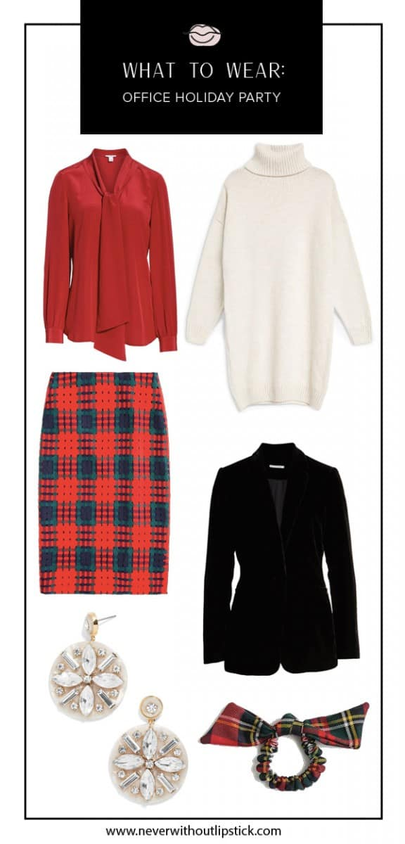 office holiday party outfit, formal office holiday party outfit, casual office holiday party outfit, office holiday party outfit idea, office holiday party outfit christmas, holiday party outfit | What to Wear to a Holiday Office Party: Top 10 Outfits featured by top Dallas fashion blog, Never Without Lipstick