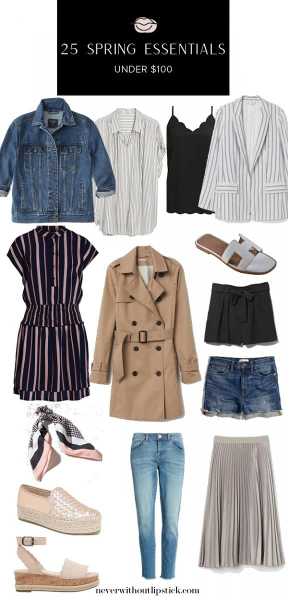 spring essentials, womens spring essentials, affordable spring essentials, spring essentials under $100, womens spring fashion, spring outfit ideas, chic spring outfit, casual spring outfit | 25 Must-Have Spring Essentials for under $100 featured by top US fashion blog, Never Without Lipstick