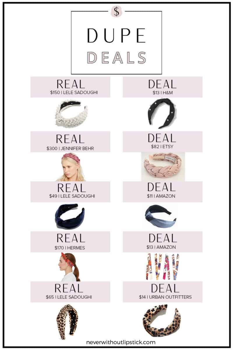 Dallas fashion blogger Never Without Lipstick shares 10 designer dupe headbands options for a look for less! | lele sadoughi headband, jennifer behr headband, headband hairstyles, pearl headband, knotted headband | Top 10 Designer Dupe Headbands featured by top US fashion blog, Never Without Lipstick