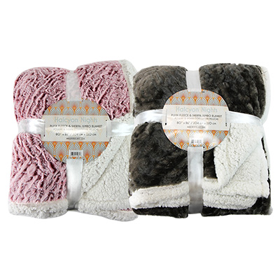 Halcyon Nights Jumbo Fleece Sherpa Throw