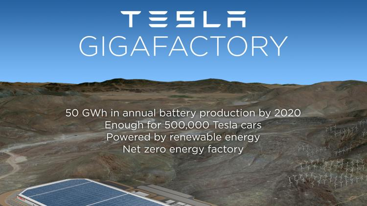 Tesla Motors Inc. says an employee at its $5 billion, under-construction Gigafactory in… more Rendering courtesy of Tesla