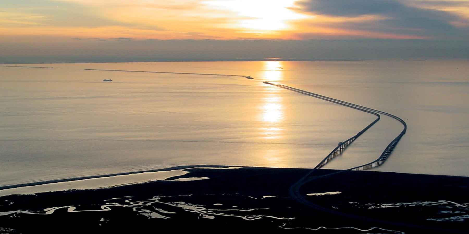 The Chesapeake Bay Bridge-Tunnel is a civil engineering marvel