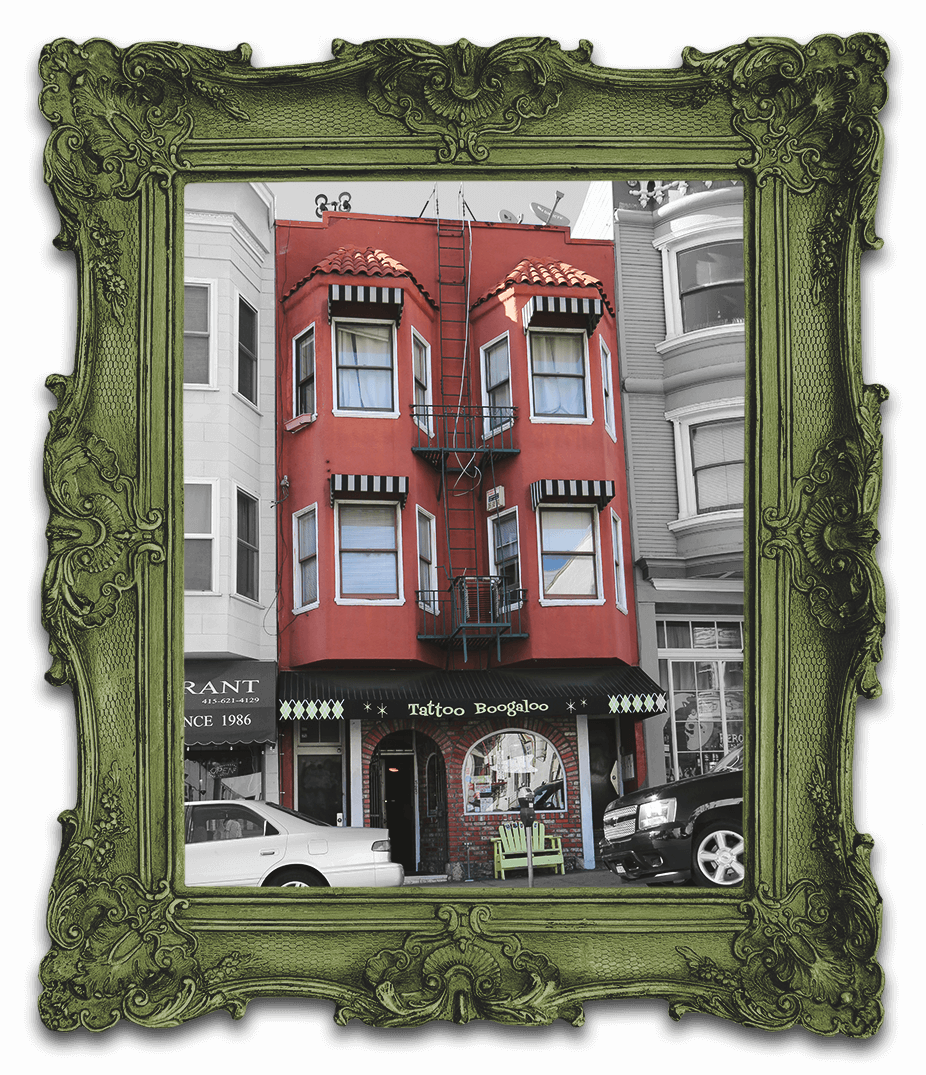 Tattoo Boogaloo a San Francisco Building located at 528 Green Street in North Beach