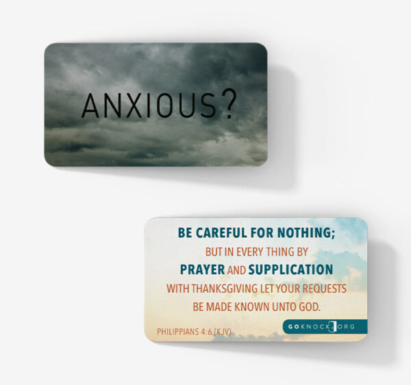 """Front and bac of anxious card"""