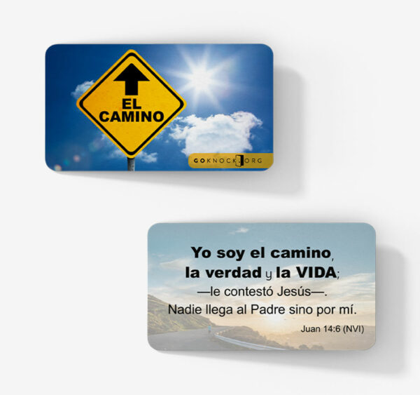 """""""Front and back of El Camino card"""""""