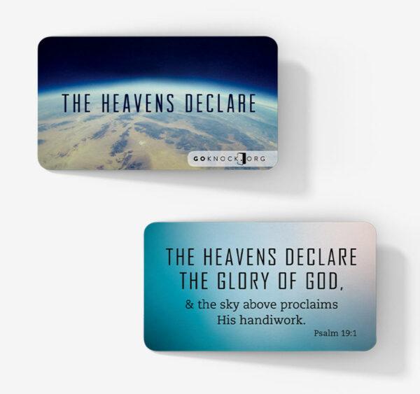 """Heavens declare card"""