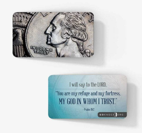 """In God we trust card"""