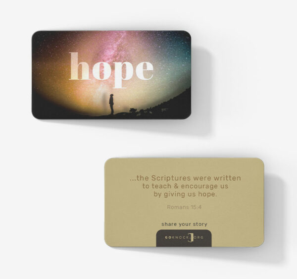 """""""Front and back of hope card"""""""