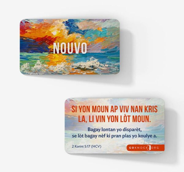 """""""Front and back of Nuovo card"""""""