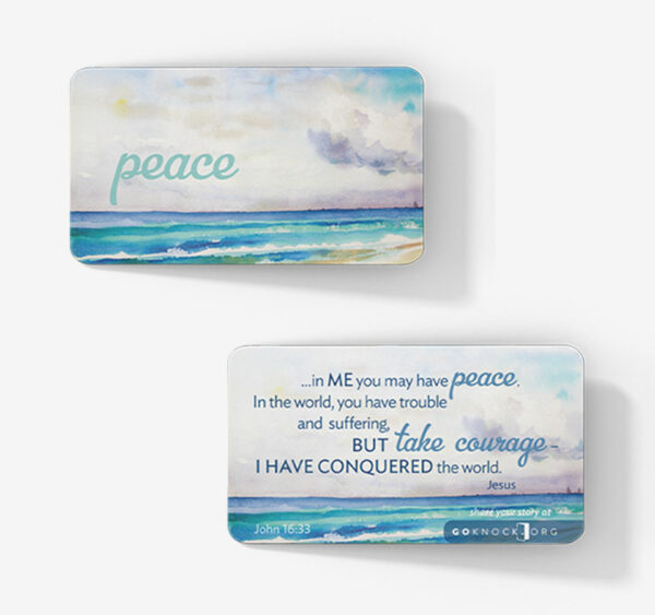 """Front and back of peace card"""