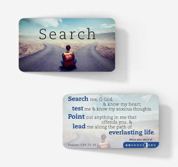"""""""Front and back of search card"""""""