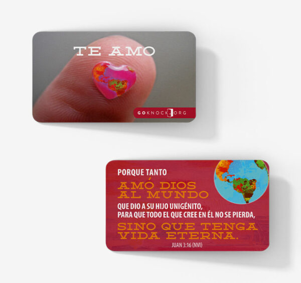 """""""Front and back of Te Amo Card"""""""
