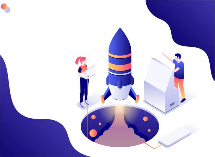 Illustration of Web Development Project Launch