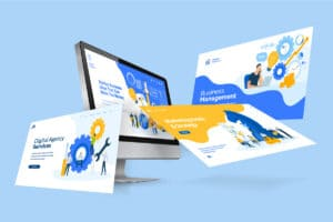 What is a Landing Page Illustration