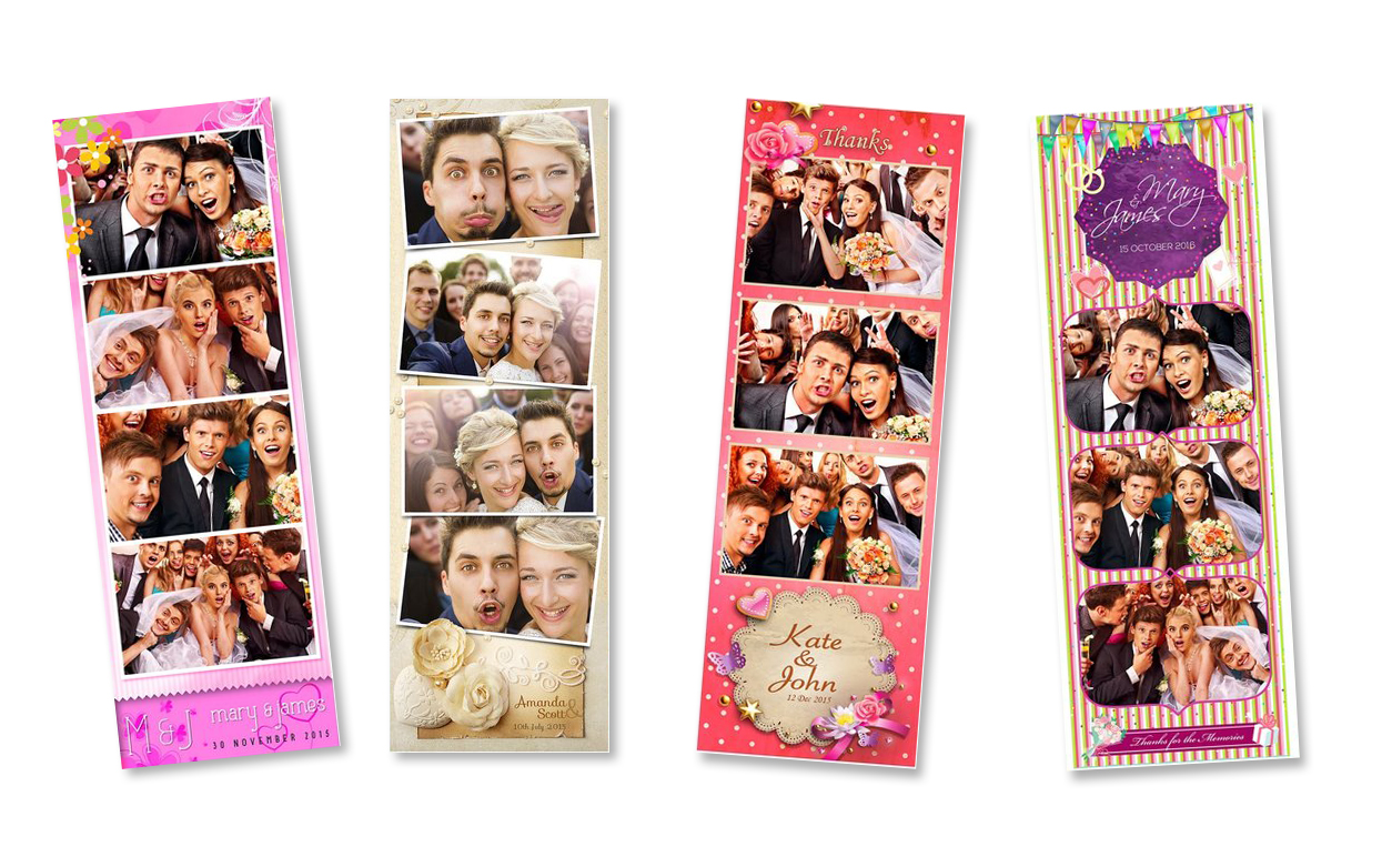 photo strip samples from the photo booth rental in Madison Oh Snap!