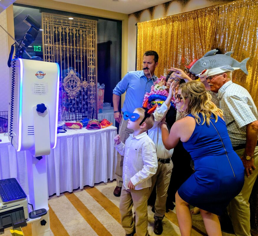 Wedding event photo booth rental in Madison, Wi