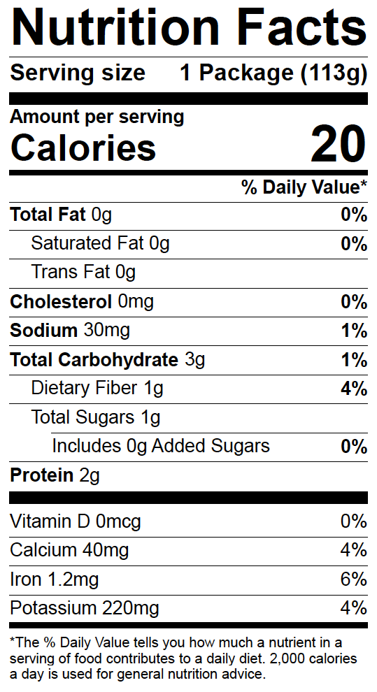 Fusion nutrition label