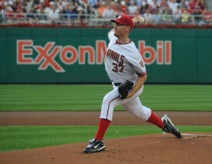 The early innings have been a real grind for Strasburg this year --(Photo credit: Scott Ableman)