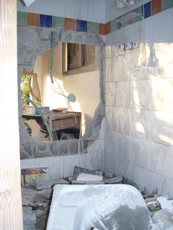 Palestinian Rocket Destroys Sderot Home