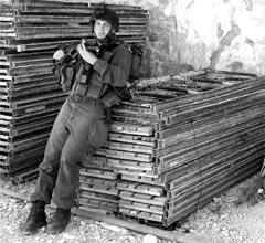 Yair Amsel as soldier