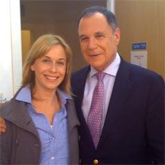 Leah Stern with Former UN Ambassador Dan Gillerman